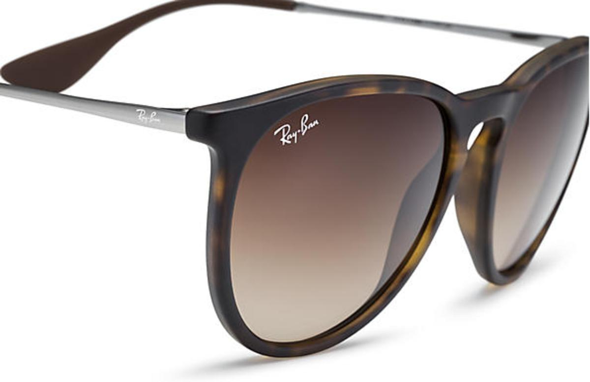 7dc72f3dff3a6 Ray-Ban Erika Classic Sunglasses with Tortoise Gunmetal Frame Brown Gradient  Lens - The Warming Store