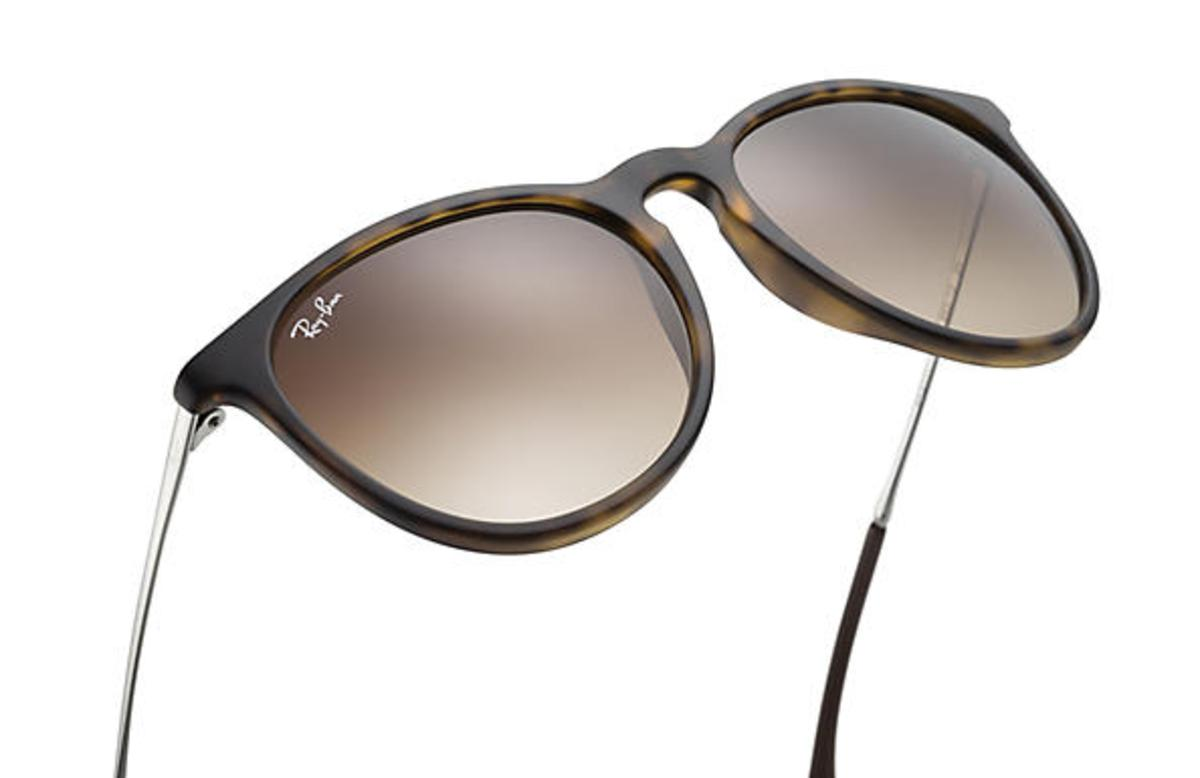 ray ban erika tortoise shell sunglasses