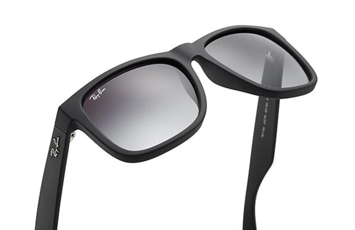 34c05370e23 Ray-Ban Justin Classic Sunglasses with Black Frame Grey Gradient Lens - The  Warming Store