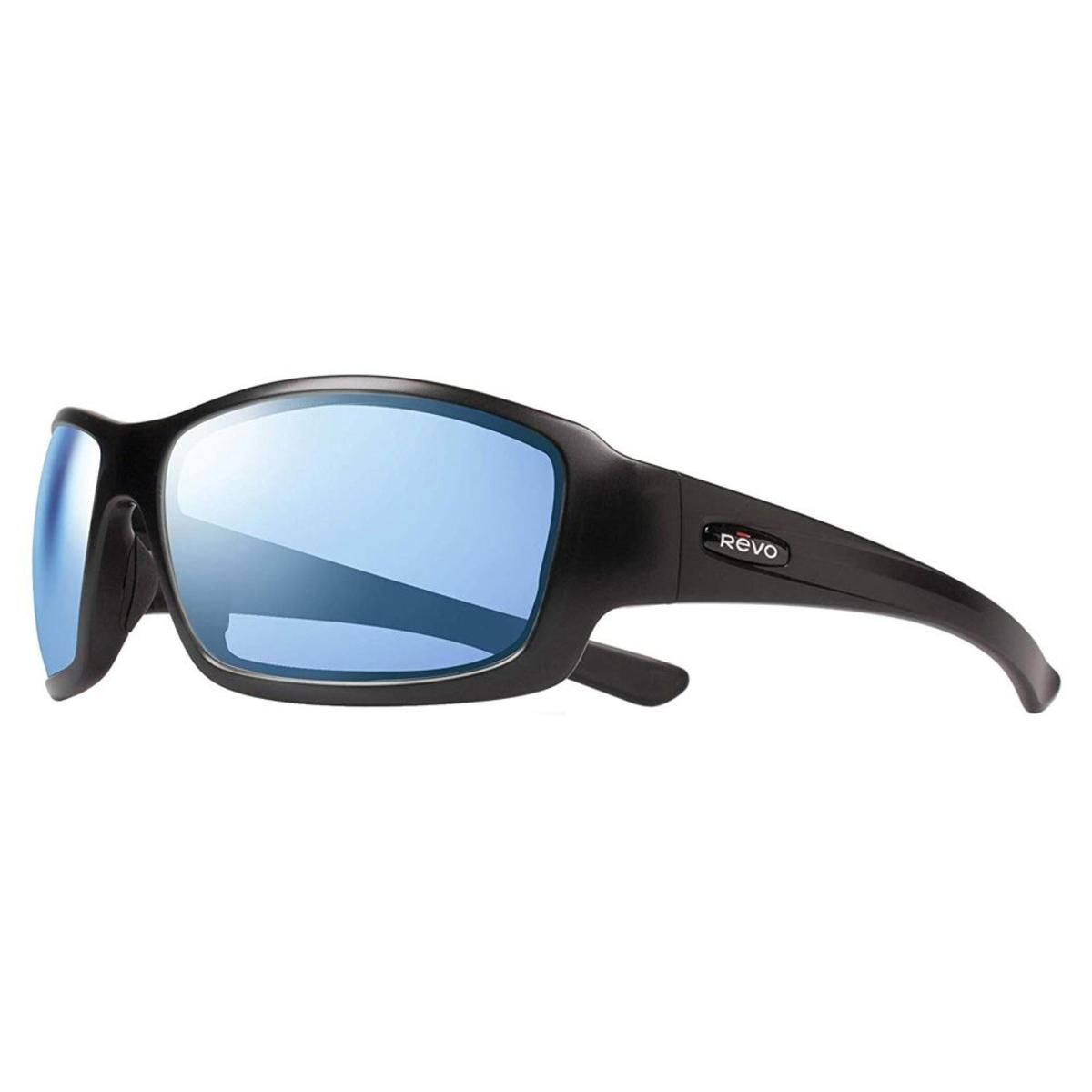 03668ca35dc Revo Men s Maverick Wraparound Sunglasses Blue Water Lens with Matte Black  Frame - The Warming Store