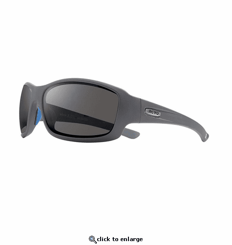 Revo Men's Maverick Wraparound Sunglasses Graphite Lens with Matte Graphite Frame