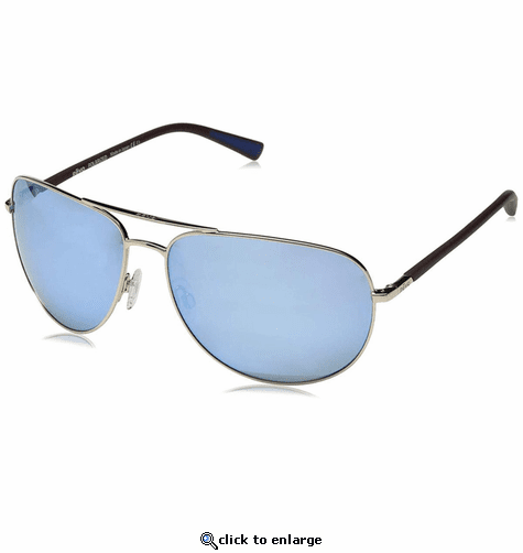 Revo Men's Tarquin Aviator Sunglasses Blue Water Lens with Gold Frame
