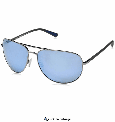 Revo Men's Tarquin Aviator Sunglasses Blue Water Lens with Gunmetal Frame