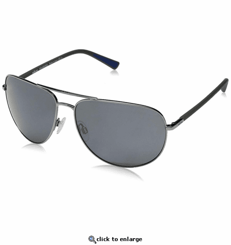Revo Men's Tarquin Aviator Sunglasses Graphite Lens with Gunmetal Frame