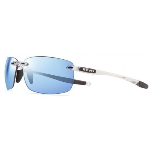 Revo Unisex Descend N Rectangle Sunglasses Blue Water Lens with Crystal Frame
