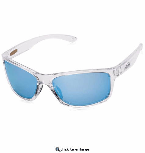 Revo Unisex Harness Wraparound Sunglasses Blue Water Lens with Crystal Frame