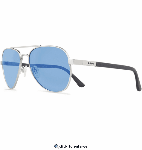 5c0fdc03b4a ... Revo Unisex Raconteur Aviator Sunglasses Blue Water Lens with