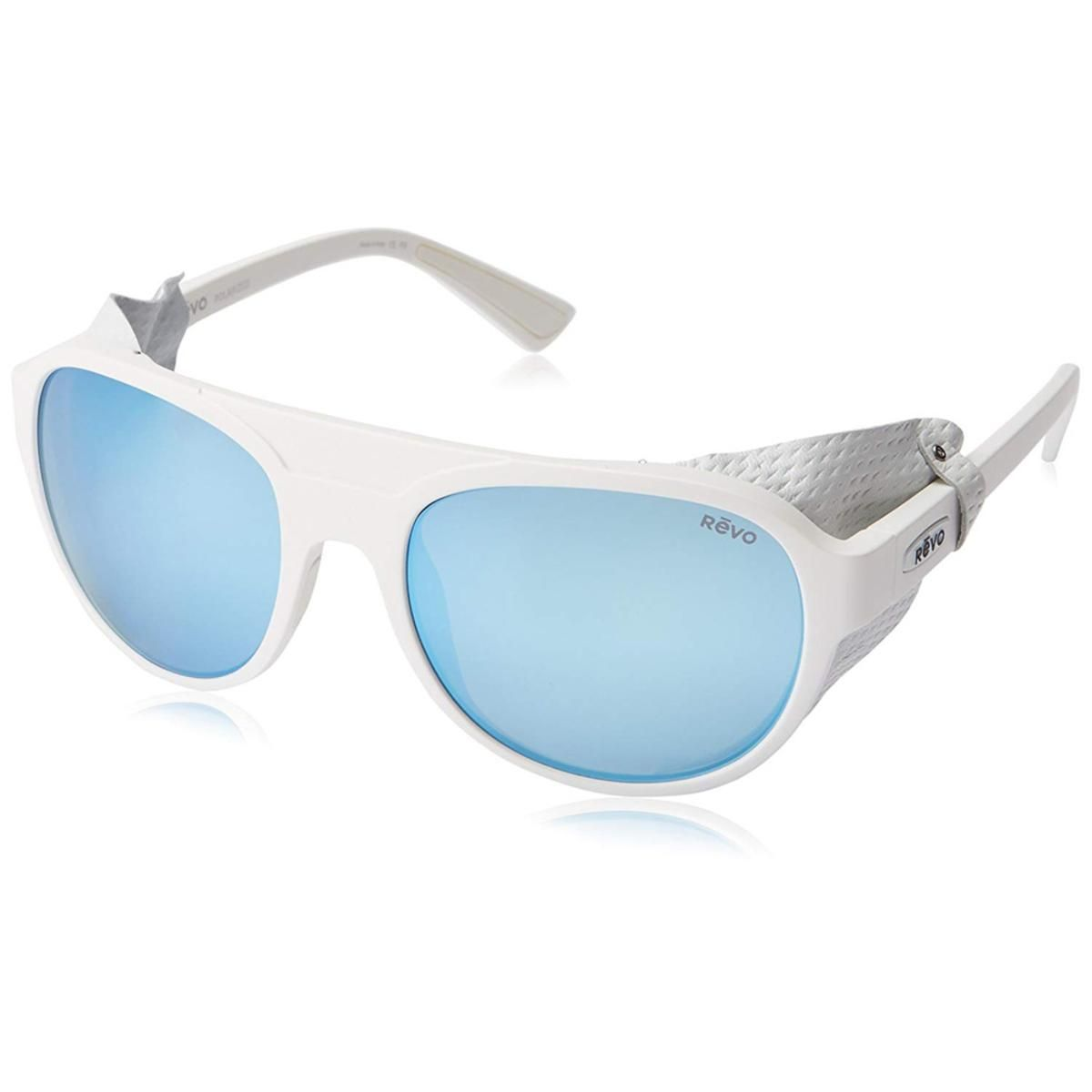 496e2becfe4 Revo Unisex Traverse Glacier Sunglasses Blue Water Lens with White Frame -  The Warming Store
