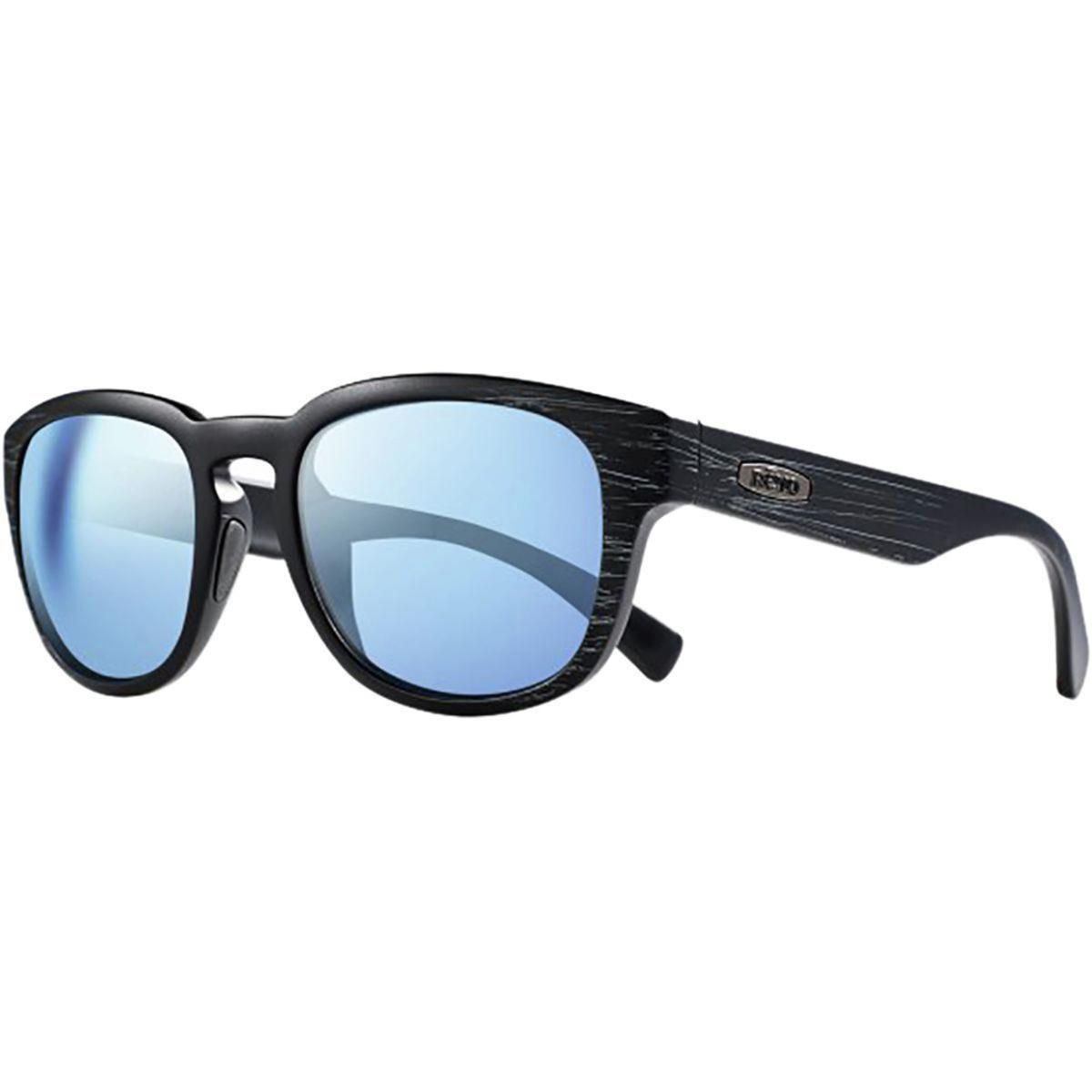 57e3fa991 Revo Unisex Zinger Modified Wayfarer Sunglasses Blue Water Lens with Matte  Black Scratch Frame - The Warming Store