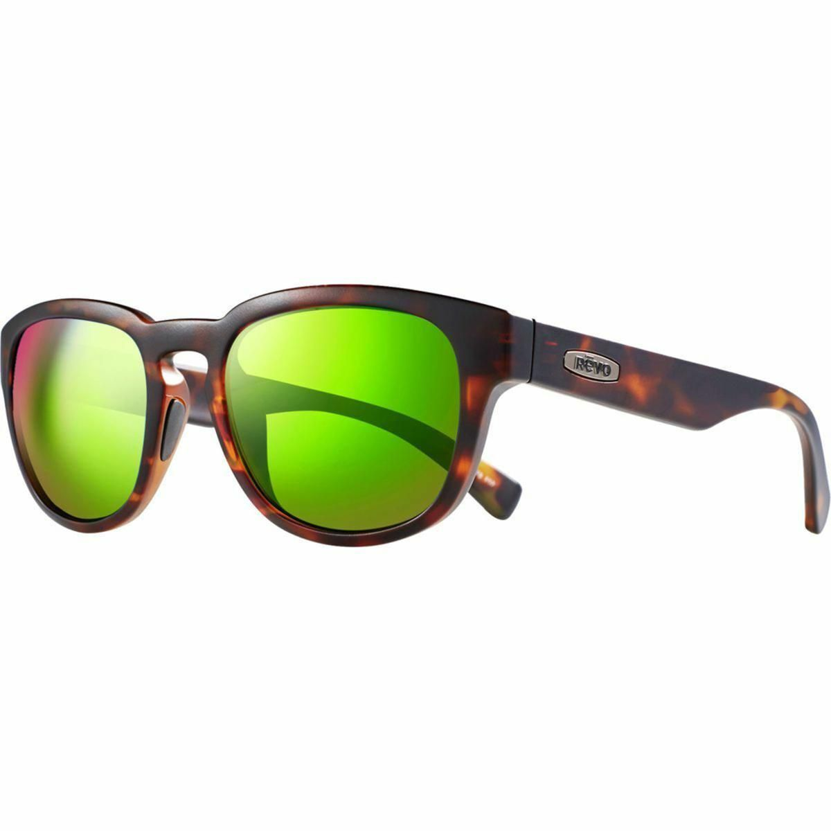 720f1415b4b3 Revo Unisex Zinger Modified Wayfarer Sunglasses Green Water Lens with Matte  Tortoise Frame - The Warming Store