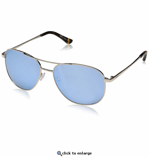 Revo Women's Maxie Navigator Sunglasses Blue Water Lens with Gold Frame