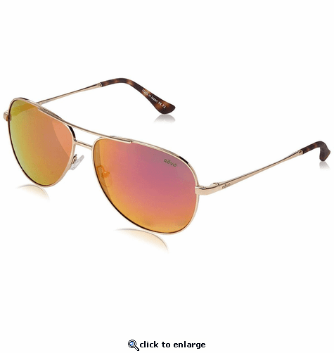 Revo Women's Relay Aviator Sunglasses Spectra Lens with Gold Frame
