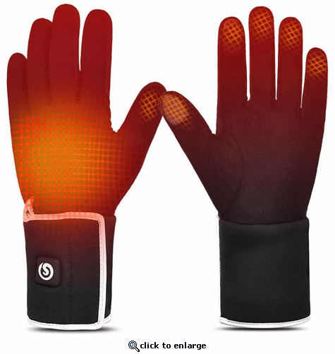 Savior Heat Unisex Electric Rechargeable Heated Liner Gloves
