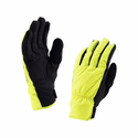 SealSkinz Waterproof Men's Brecon Gloves - Black/Hi Vis Yellow