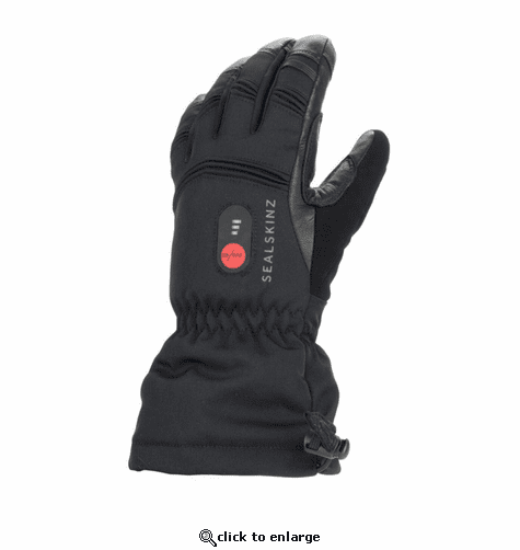 SealSkinz Extreme Cold Weather Waterproof Heated Gauntlet Gloves