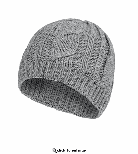 SealSkinz Waterproof Cable Knit Beanie Hat - Gray