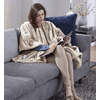 Serta Electric Heated Snuggler Wrap Throw