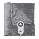 Serta Heated Chevron Embossed Throw with 5 Setting Controller