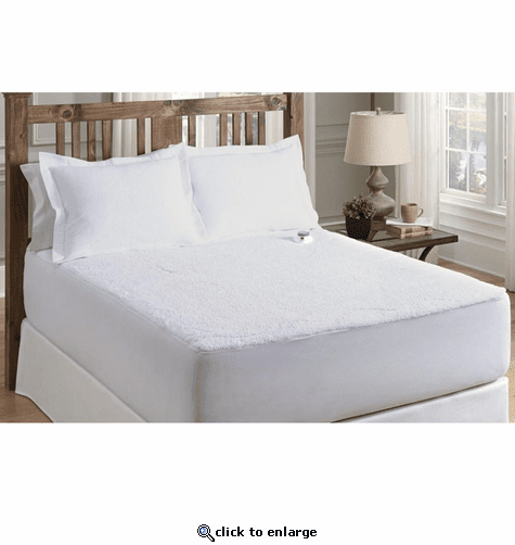 Serta Low Voltage Sherpa Plush Heated Mattress Pad - Twin