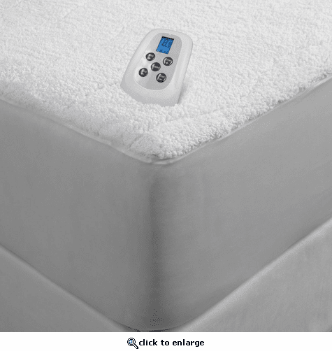 Serta Sherpa Plush 110V Electric Heated Mattress Pad with Programmable Digital Controller - Queen