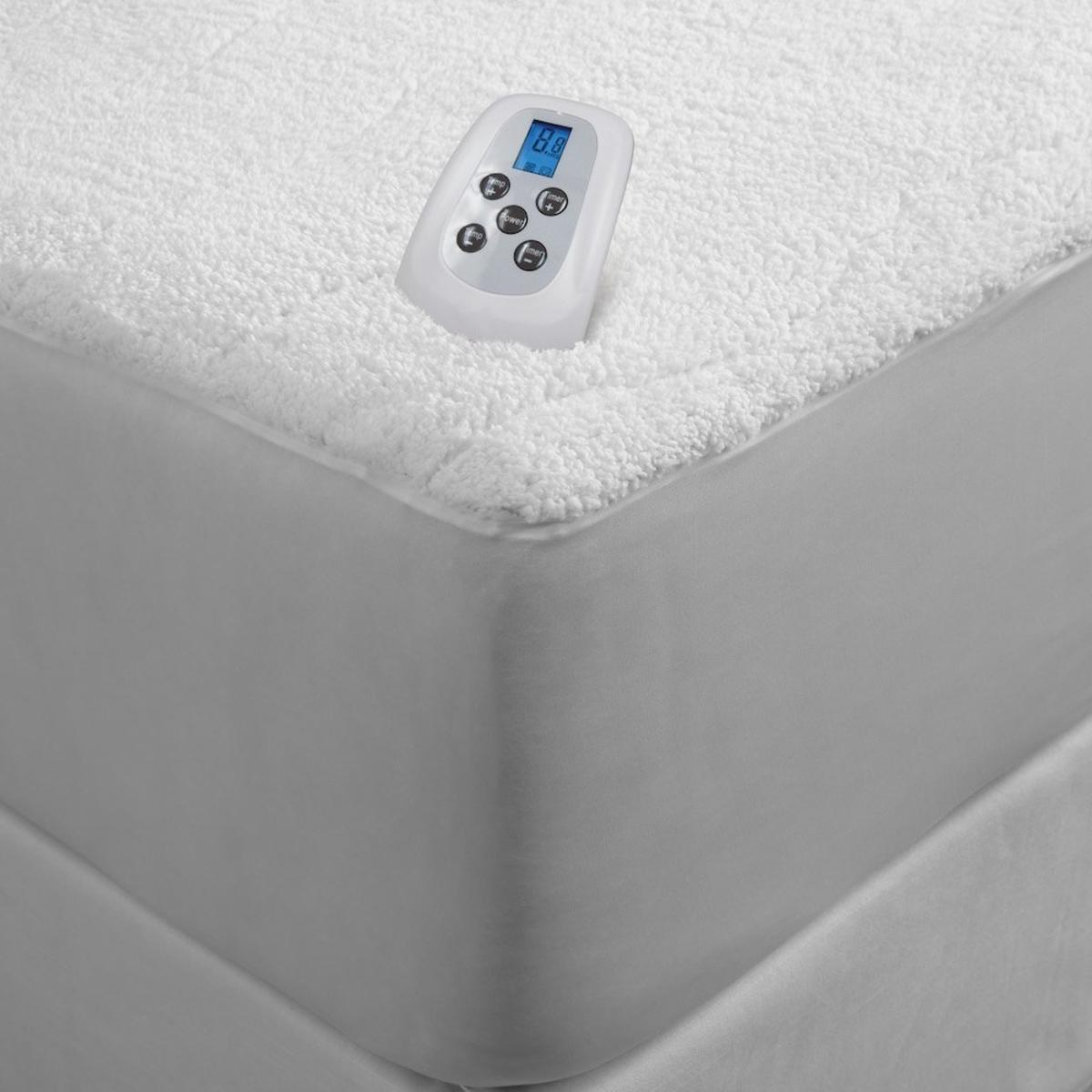 serta sherpa plush 110v electric heated mattress pad with