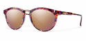 Smith Archive Questa Sunglasses Flecked Mulberry Tortoise Carbonic Rose Gold Mirror