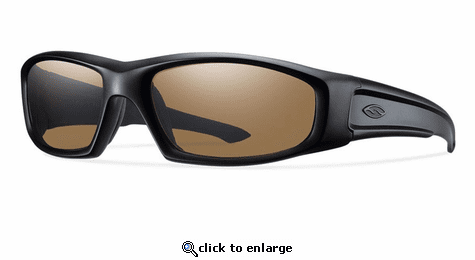Smith Elite Hudson Elite Sunglasses Black Carbonic Elite Ballistic Polarized Brown
