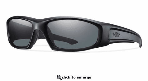 Smith Elite Hudson Elite Sunglasses Black Carbonic Elite Ballistic Polarized Gray
