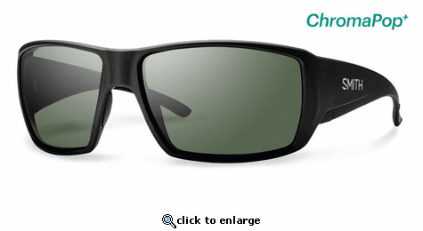 Smith Optics Lifestyle Guides Choice Sunglasses Matte Black Chromapop+ Polarized Gray Green