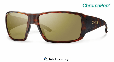 Smith Optics Lifestyle Guides Choice Sunglasses Matte Havana Chromapop+ Polarized Bronze Mirror