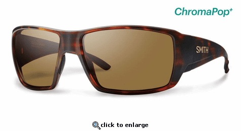 Smith Optics Lifestyle Guides Choice Sunglasses Matte Havana Chromapop+ Polarized Brown