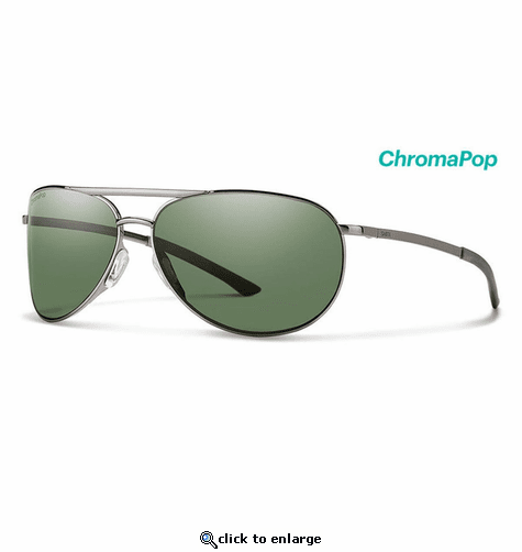 c4645f9aac Smith Optics Serpico Slim 2 Sunglasses Chromapop Polarized Gray Green -  Gunmetal Frame