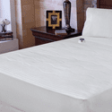 Serta 233TC Dobby Stripe Heated Mattress Pad - Queen