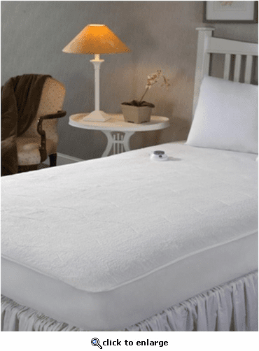 Soft Heat MicroPlush Low Voltage Heated Mattress Pad - Queen