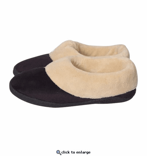 Stay Warm Apparel 3V Battery Heated Slippers with Memory Foam