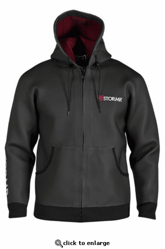 Stormr Men's Swell Neoprene Hoodie - Black