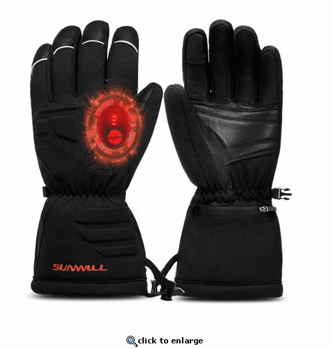Sun Will Unisex Electric Rechargeable Heated Gloves for Cycling, Motorcycle & Skiing