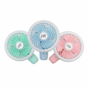 Sunpentown Personal Hand-Held Fan with LED Light (Set of 3)