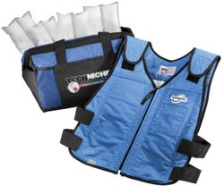 Techniche TechKewl 6626 Phase Change Cooling Vest with Inserts and Cooler - Blue