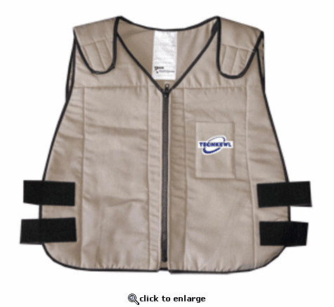 Techniche TechKewl Phase Change Cooling Vest with Inserts and Cooler - Khaki