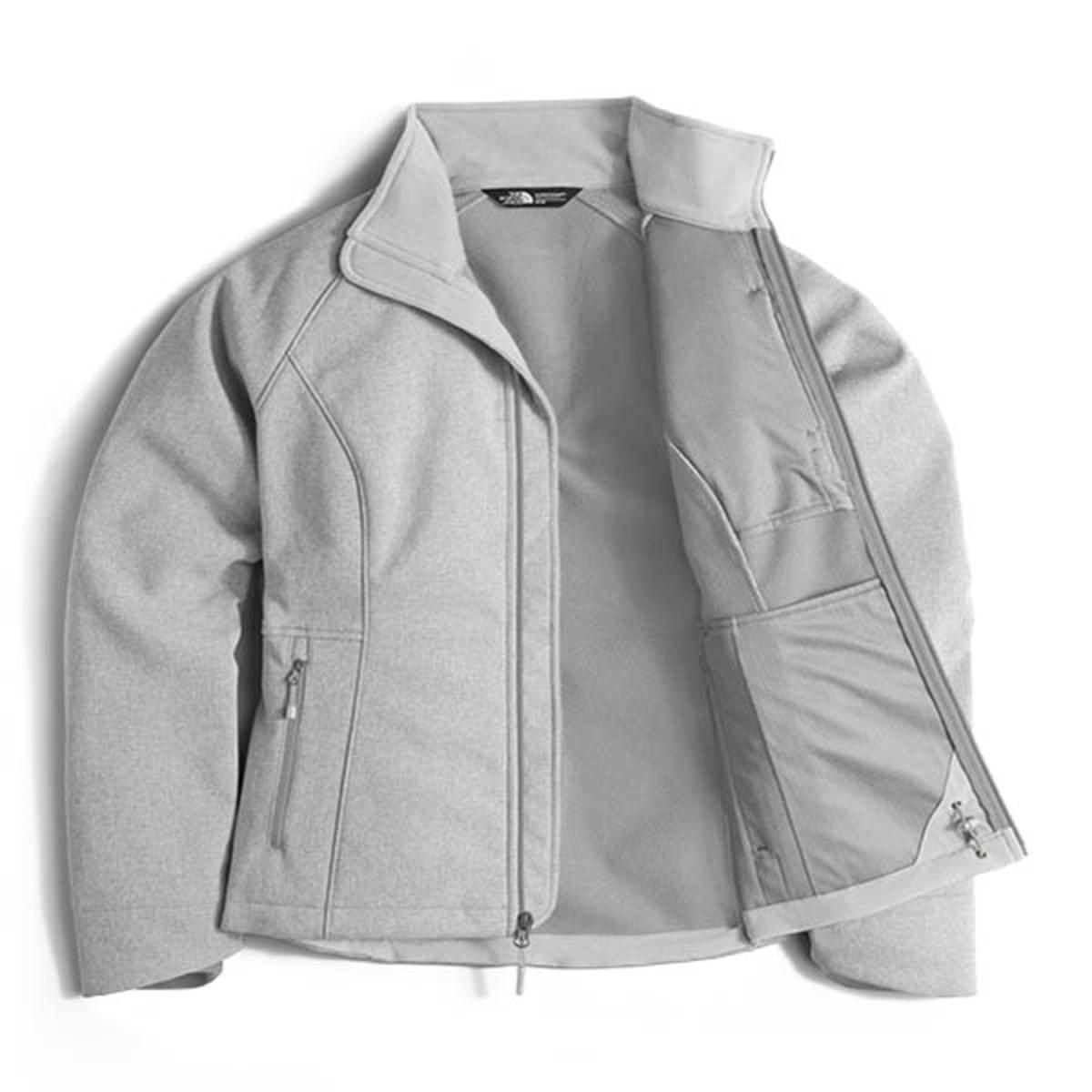 493b9a367 The North Face Women's Apex Bionic 2 Jacket - Light Grey Heather/Mid ...