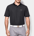 Under Armour Men's UA Performance Polo Shirt - True Gray Heather/Black