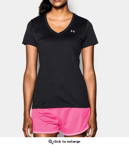 Under Armour Women's UA Tech Solid V-Neck Shirt
