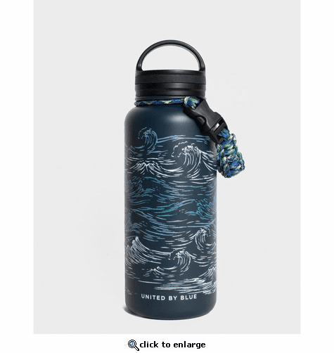 United by Blue Waves 32oz Insulated Steel Bottle