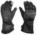 Venture Heat 12V Heated Carbon Fiber Knuckle Motorcycle Gloves