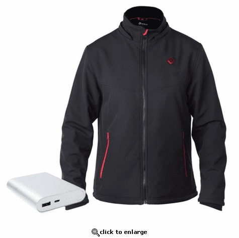 Venture Heat Men's Escape Heated Softshell Jacket - 5V USB Power Bank