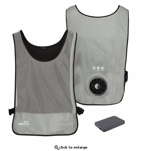 Venture Heat Unisex WindTech Single Speed Wearable Cooling Fan Vest with 3.7V Battery
