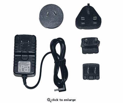 Warm & Safe Battery Charger for 7.4 Volt Battery World Plug Set