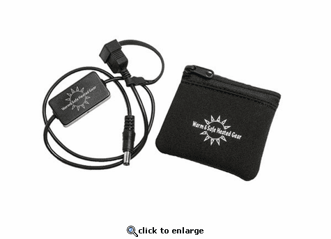 Warm & Safe USB Charger Adapter for Motorcycle with Pouch