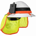 ZippKool HVC-03BL High-Visibility Hard Hat Cooler Attachment with Big Rechargeable Lithium-Ion Battery - High-Viz Yellow